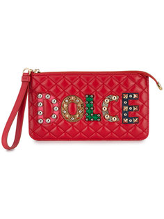 стеганый клатч с заклепками Dolce & Gabbana