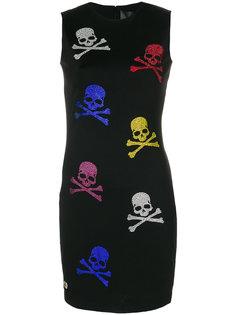 облегающее платье с черепами Philipp Plein