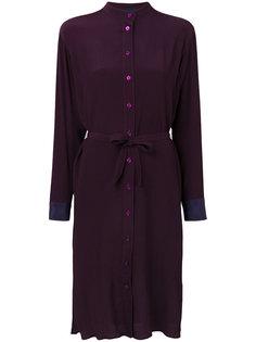 платье-рубашка с завязками на поясе Paul Smith