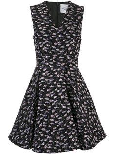 платье с V-образным вырезом с цветочным принтом Si-Jay