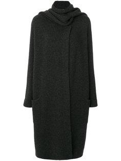 кашемировое пальто Antigua с декоративным шарфом Le Kasha