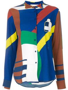 рубашка с абстрактным принтом  Pardens Pardens