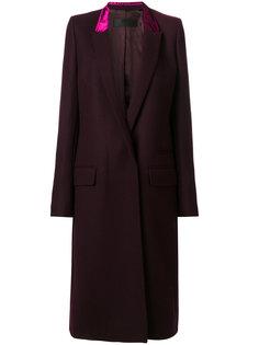 приталенное пальто с контрастным воротником  Haider Ackermann