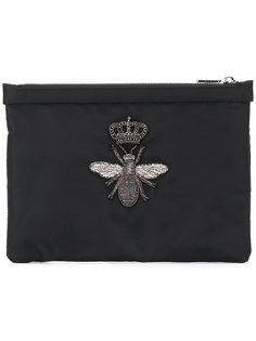 клатч с заплаткой в виде пчелы Dolce & Gabbana