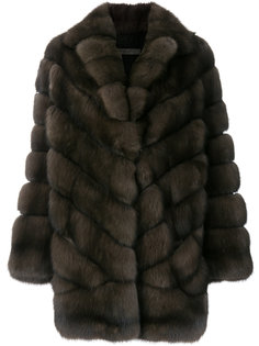 пальто со вставками  Simonetta Ravizza