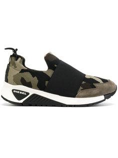кроссовки с камуфляжным принтом Diesel