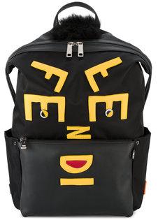 рюкзак с кожаной аппликацией Face Fendi