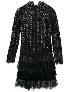 кружевное платье с бахромой Ermanno Scervino