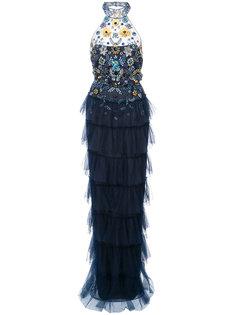 расшитое камнями вечернее платье Marchesa Notte