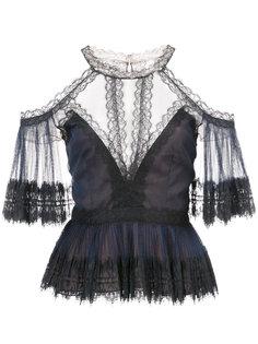 блузка с кружевными деталями Marchesa Notte