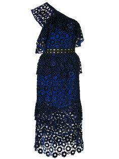 платье миди на одно плечо  Self-Portrait