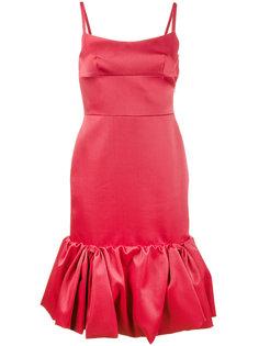 платье со сборками на подоле Mikado Prada