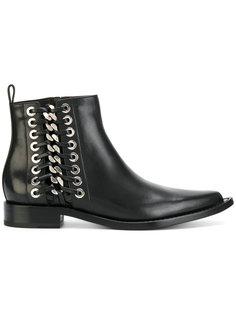 ботинки с плетеной отделкой Alexander McQueen