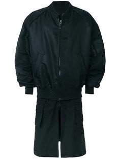 пальто-бомбер с многослойным подолом Juun.J