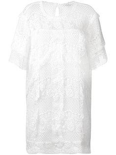 кружевное платье с рюшами Iro