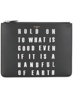 клатч с графическим принтом Givenchy