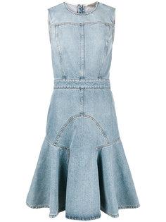 джинсовое платье без рукавов  Alexander McQueen