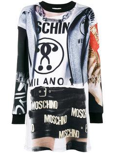 платье-футболка Trompe Loeil Moschino