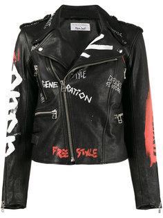 байкерская куртка с узором  Faith Connexion