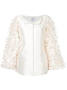 пиджак с отделкой перьями и жемчугом  Bambah