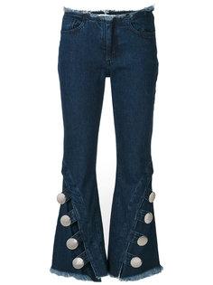 джинсы клеш с необработанными краями Marquesalmeida Marquesalmeida