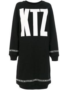 длинное платье-толстовка с принтом KTZ KTZ