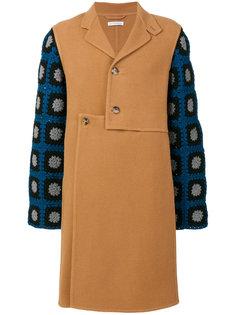 пальто с ажурной отделкой JW Anderson