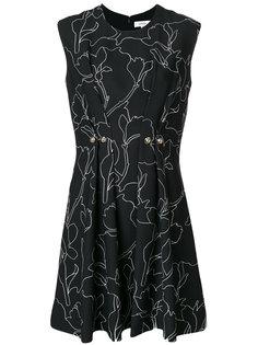 платье с принтом и пуговицами  Carven