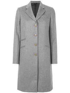 строгое пальто на пуговицах  Paul Smith