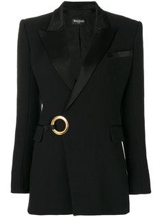 пиджак с деталью в форме кольца Balmain