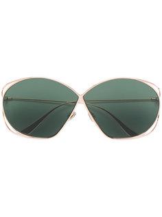 массивные солнцезащитные очки с затемненными линзами Dior Eyewear