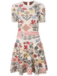 платье с геометрическим цветочным узором  Alexander McQueen