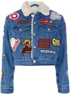 джинсовая куртка с заплатками Gcds