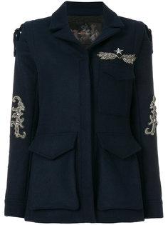 однобортное пальто с отделкой  Ash