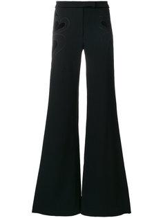 расклешенные брюки с бархатными сердцами Elie Saab