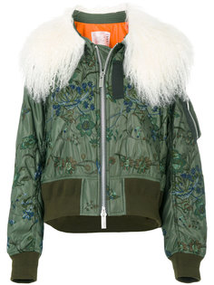 укороченная куртка бомбер Sacai