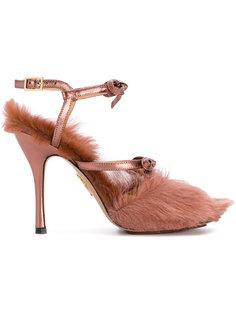 меховые туфли-лодочки Charlotte Olympia