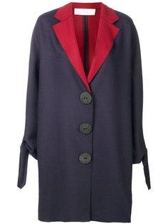 двухцветное пальто с крупными пуговицами Victoria Victoria Beckham