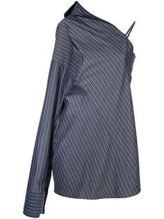 полосатое платье на одно плечо Strateas Carlucci