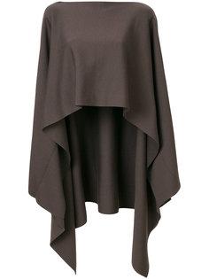 пуловер-пончо асимметричного кроя Jil Sander