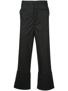расклешенные укороченные брюки Loewe