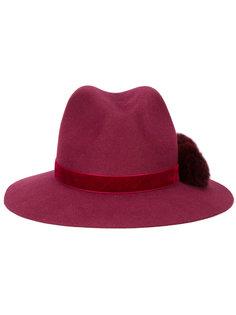 шляпа-федора Valentina с помпоном Yosuzi