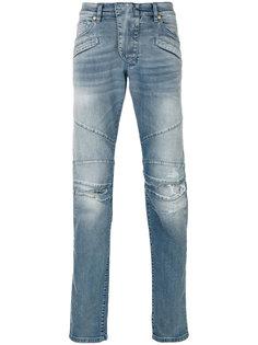 джинсы кроя слим с панельным дизайном Pierre Balmain