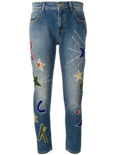 классические джинсы с аппликацией  P.A.R.O.S.H.
