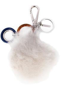 брелок для ключей с меховой деталью Marni