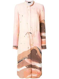 платье-рубашка с рисунком Stine Goya