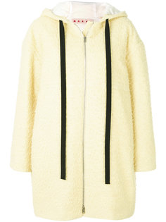 пальто прямого кроя с капюшоном Marni