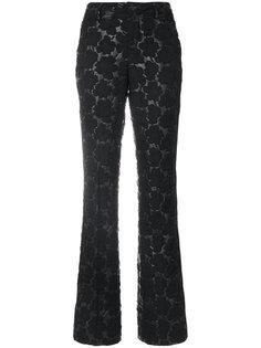 стеганые брюки с цветочным узором Marni