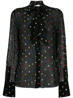 рубашка с вышивкой в горох Givenchy