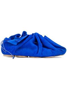 туфли на плоской подошве со стяжкой Marsèll